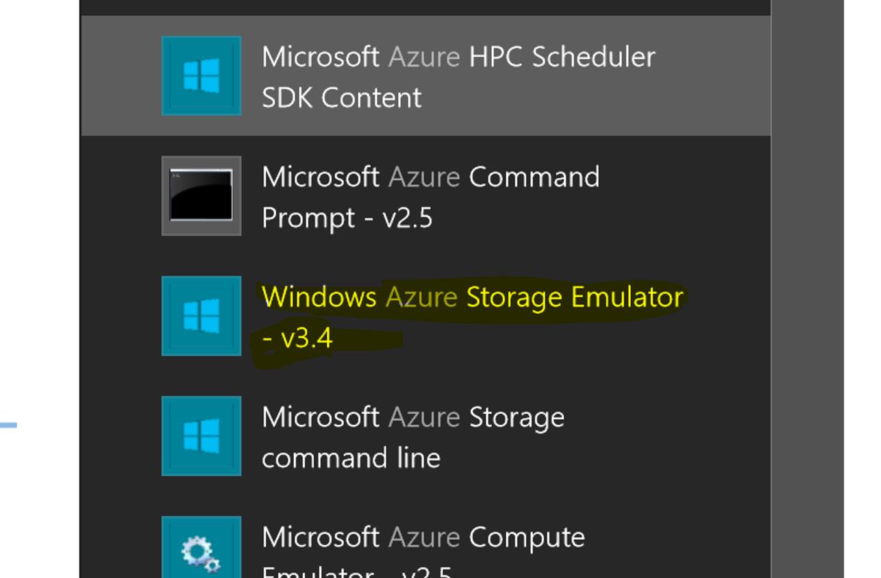 storage emulator